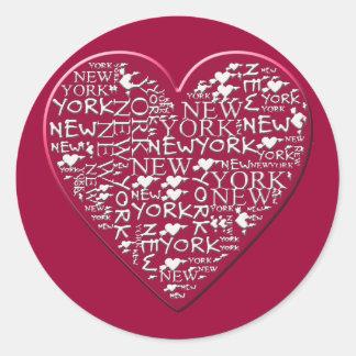 I Heart New York to Help Hurricane Sandy Relief Classic Round Sticker