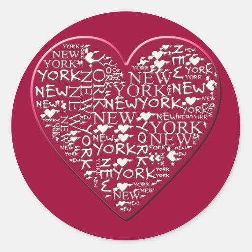 I Heart New York to Help Hurricane Sandy Relief Round Sticker