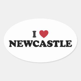 I Heart Newcastle England Stickers