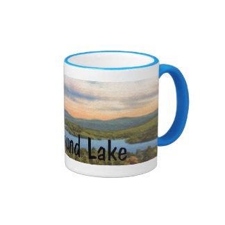 I Heart Newfound Lake Ringer Coffee Mug
