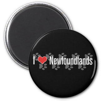 I (heart) Newfoundlands 2 Inch Round Magnet