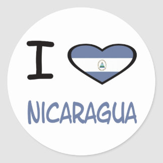 I Heart Nicaragua Classic Round Sticker