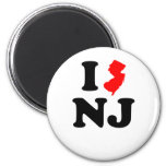 I Heart NJ 2 Inch Round Magnet