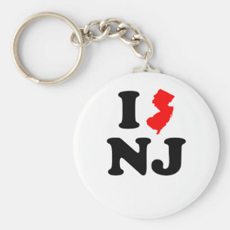 I Heart NJ Keychain