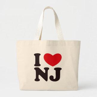 I HEART NJ LARGE TOTE BAG