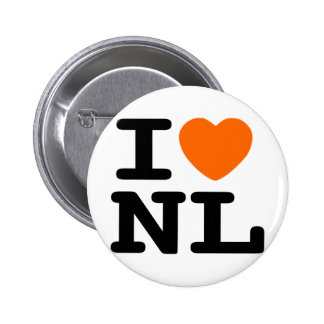 I heart NL Pinback Button
