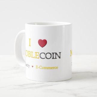 I Heart Noblecoin - Charity Ecommerce Large Coffee Mug