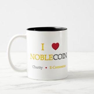I Heart Noblecoin - Charity Ecommerce Two-Tone Coffee Mug