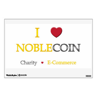 I Heart Noblecoin - Charity Ecommerce Wall Decal