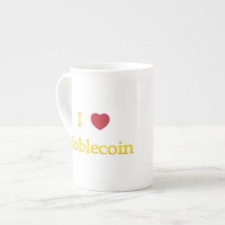 I Heart Noblecoin Tea Cup