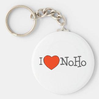 I Heart NoHo Basic Round Button Keychain