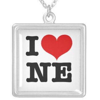 I Heart Nordeast Minneapolis Square Pendant Necklace