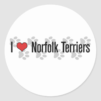 I (heart) Norfolk Terriers Stickers