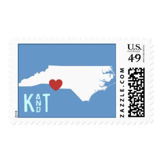 I Heart North Carolina - Customizable City Stamp