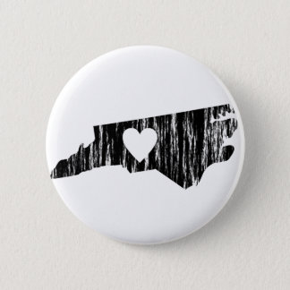 I Heart North Carolina Grunge Outline State Love Button