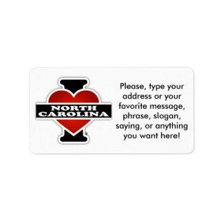 I Heart North Carolina Label