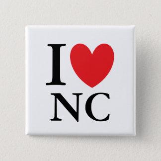 I Heart North Carolina Pinback Button