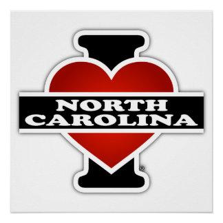 I Heart North Carolina Poster