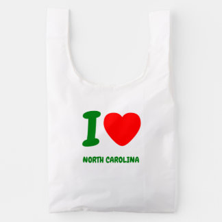I HEART NORTH CAROLINA REUSABLE BAG