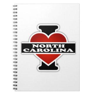 I Heart North Carolina Spiral Notebooks