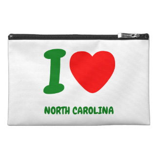 I HEART NORTH CAROLINA TRAVEL ACCESSORIES BAGS