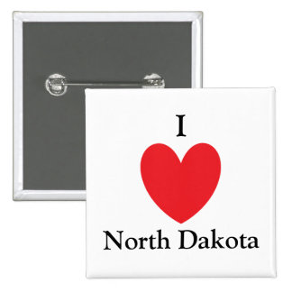 I Heart North Dakota Button
