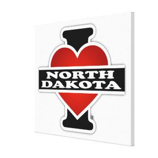 I Heart North Dakota Canvas Print