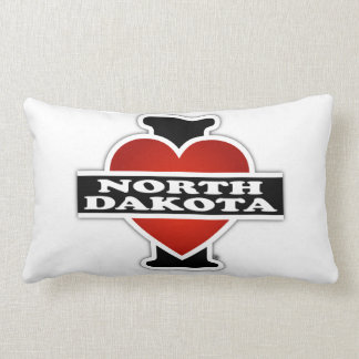 I Heart North Dakota Lumbar Pillow