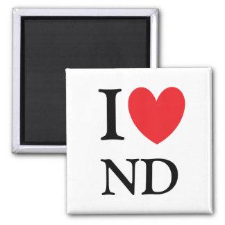 I Heart North Dakota Magnet