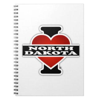 I Heart North Dakota Spiral Notebooks