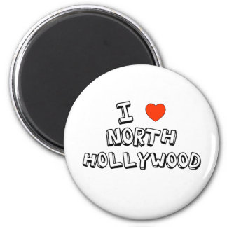 I Heart North Hollywood 2 Inch Round Magnet