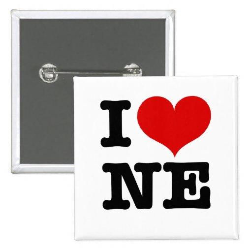 I Heart Northeast Minneapolis! 2 Inch Square Button