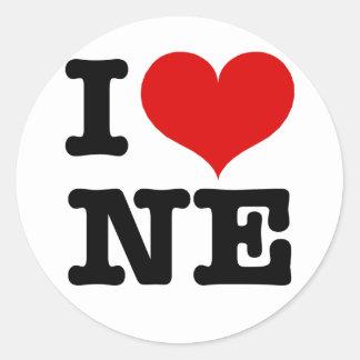 I Heart Northeast Minneapolis! Round Stickers