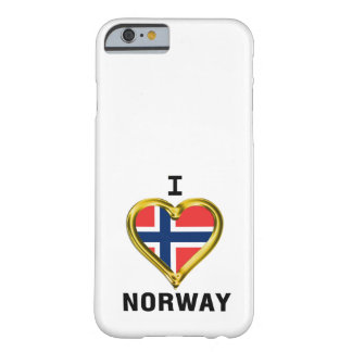 I HEART NORWAY BARELY THERE iPhone 6 CASE