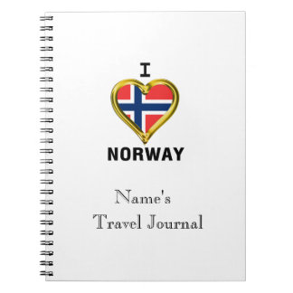 I HEART NORWAY SPIRAL NOTEBOOK