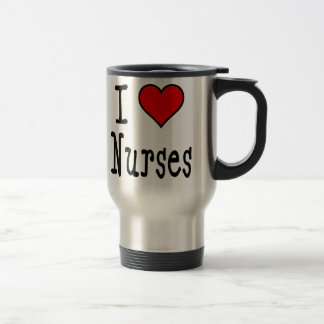I Heart Nurses Travel Mug