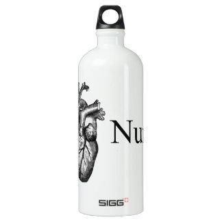 I Heart Nursing Aluminum Water Bottle