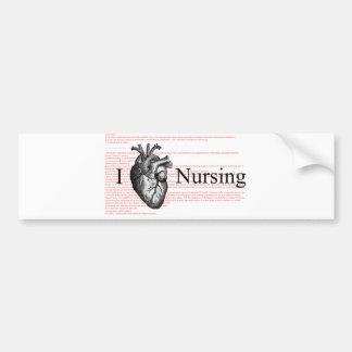 I Heart Nursing Bumper Sticker