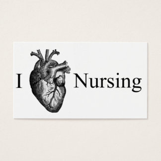I Heart Nursing Business Card