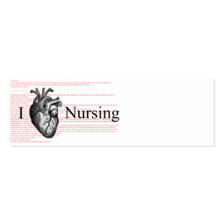 I Heart Nursing Definition Double-Sided Mini Business Cards (Pack Of 20)