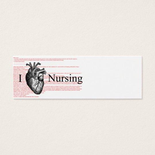 I Heart Nursing Definition Mini Business Card