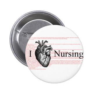 I Heart Nursing Pinback Button