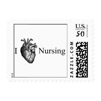 I Heart Nursing Postage