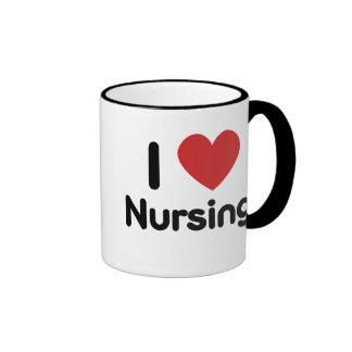 I heart Nursing Ringer Mug