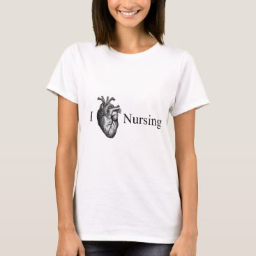 Valentines Themed I Heart Nursing T-Shirt