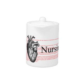 I Heart Nursing Teapot