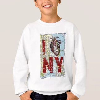 I heart Ny - I Love Ny - New York City Map Page Ba Sweatshirt