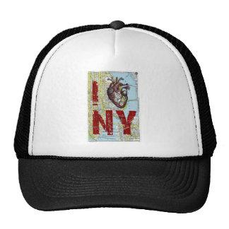 I heart Ny - I Love Ny - New York City Map Page Ba Trucker Hat