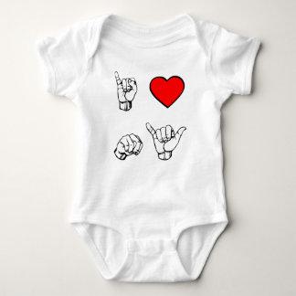 I HEART NY - white background Baby Bodysuit