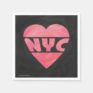 I Heart NYC Standard Cocktail Napkin